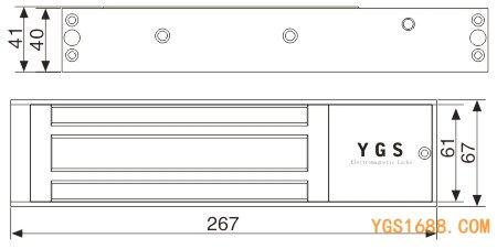 YGS-500M磁力锁尺寸图