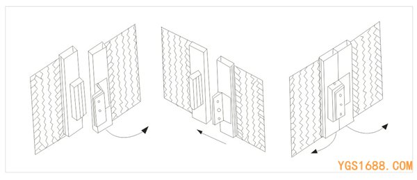 YGS磁力锁安装图