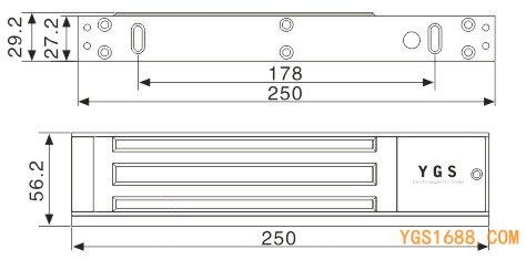 YGS-350M尺寸图