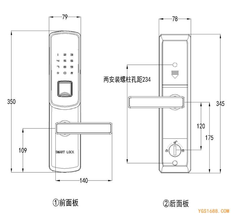 YGS-8863-FM尺寸图