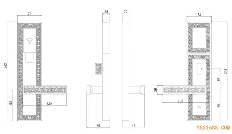 YGS-9917尺寸图